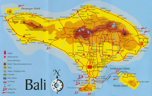 Map of bali indonesia and the world bali map gumiabroncs Images